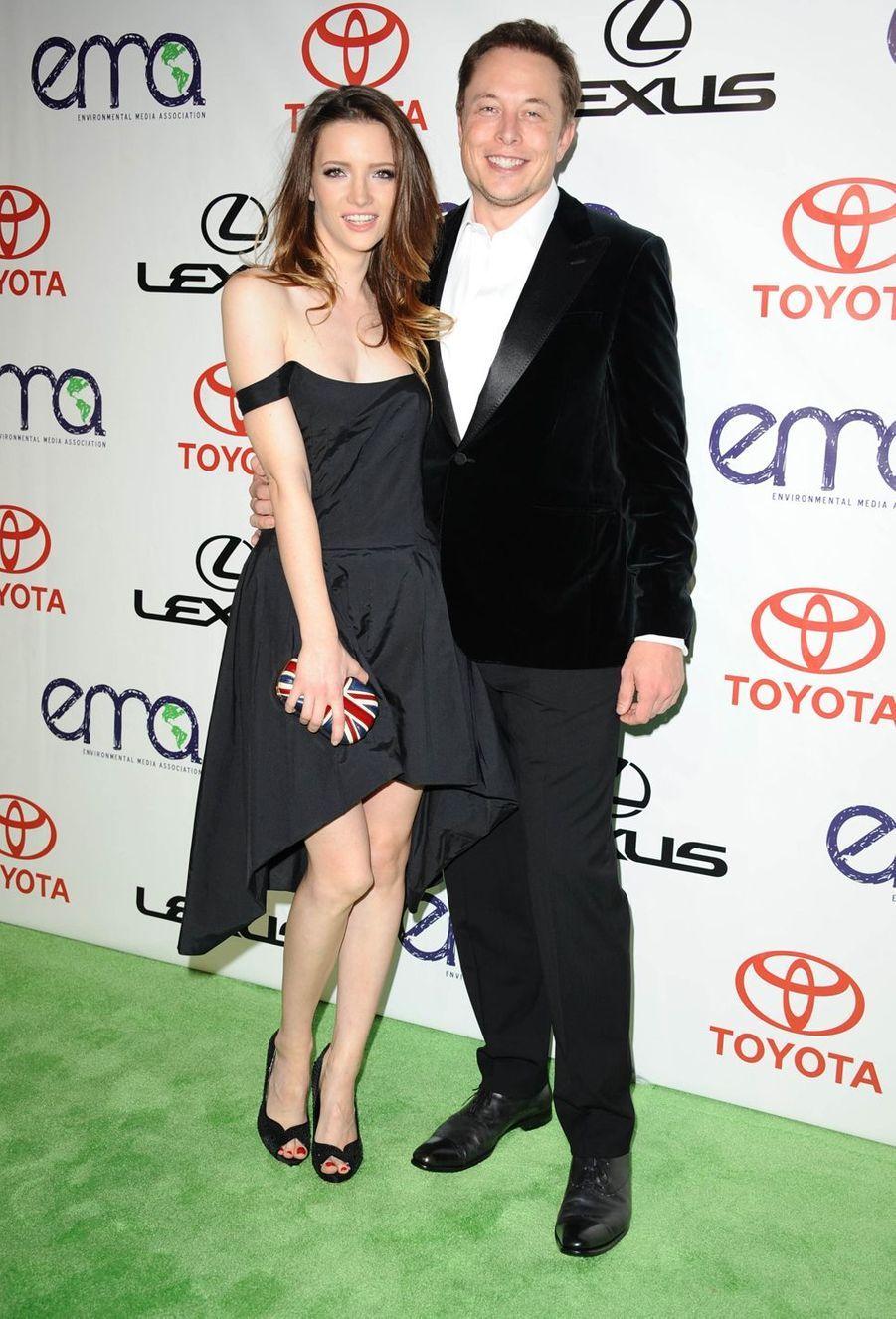 Talulah Riley et Elon Musk en 2012