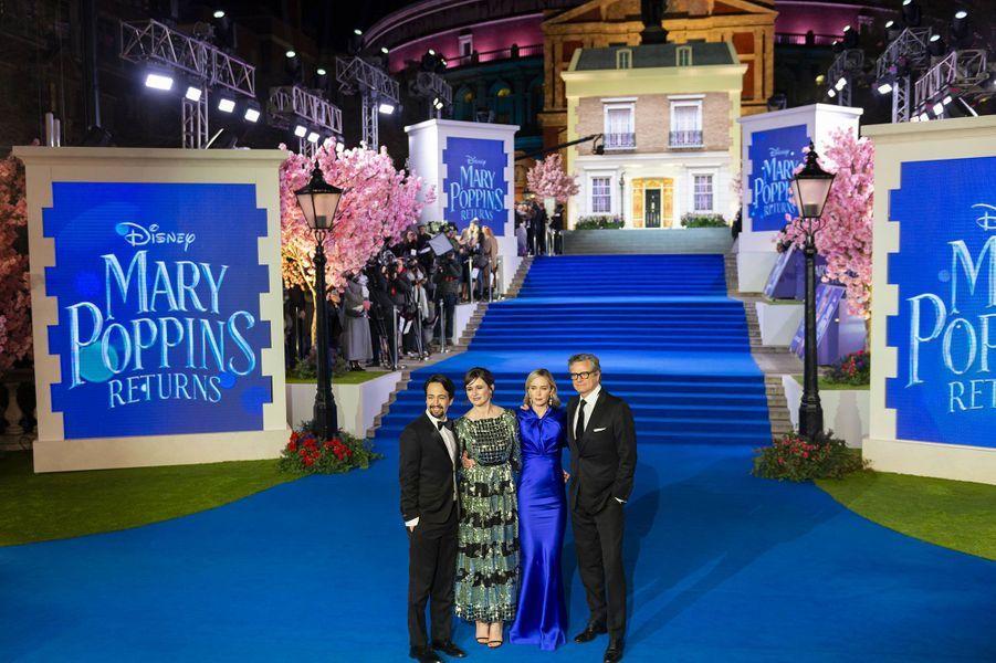 Lin-Manuel Miranda, Emily Mortimer, Emily Blunt and Colin Firth