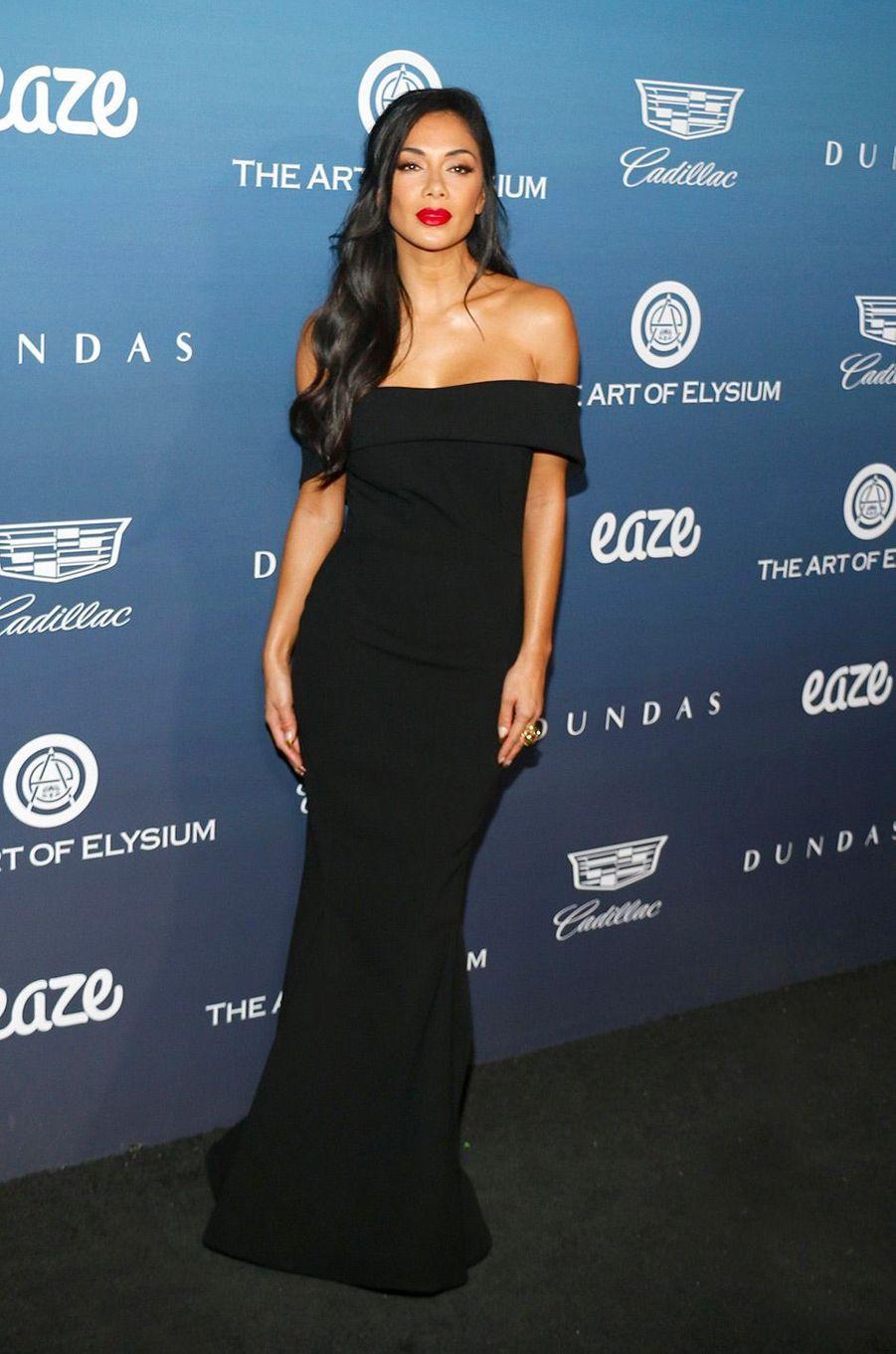 Nicole Scherzinger au gala Art of Elysium, à Los Angeles, samedi 5 janvier