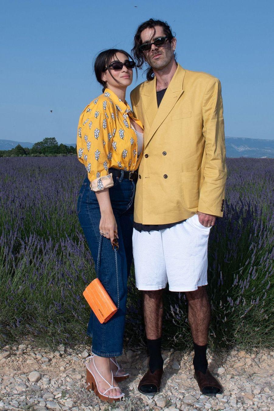 Camelia Jordana et Hugo ToucasàValensole, le 24 juin 2019