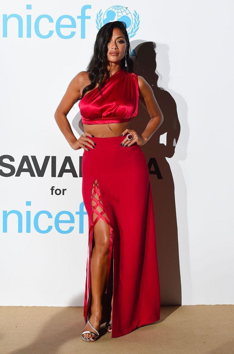 Nicole Scherzingerau gala de l'UNICEF à Porto Cervo (Sardaigne) le 10 août 2018