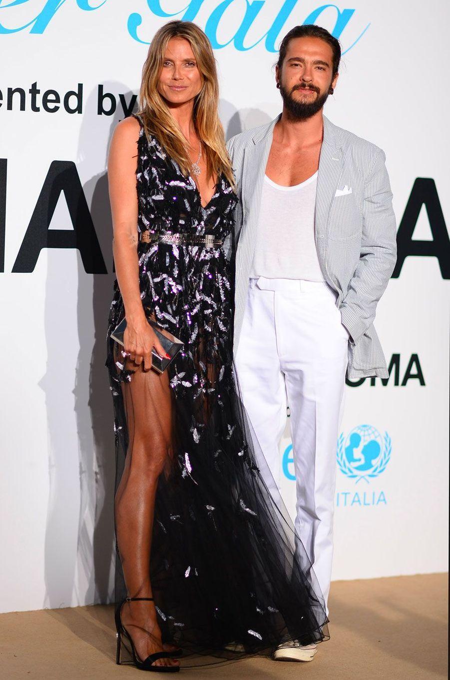 Heidi Klum et Tom Kaulitz au gala de l'UNICEF à Porto Cervo (Sardaigne) le 10 août 2018