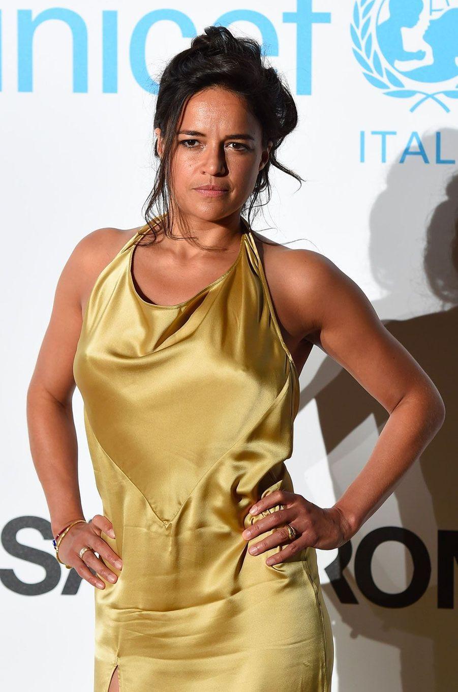 Michelle Rodriguez au gala de l'UNICEF à Porto Cervo (Sardaigne) le 10 août 2018