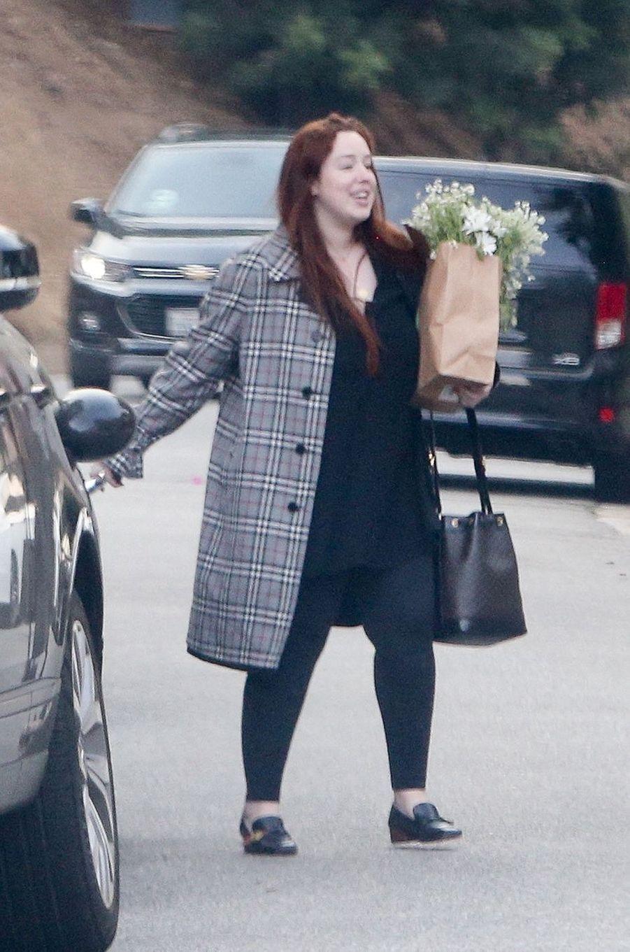 Lily Kershawse rend à la baby shower d'Emma Roberts à Los Angeles le 3 octobre 2020