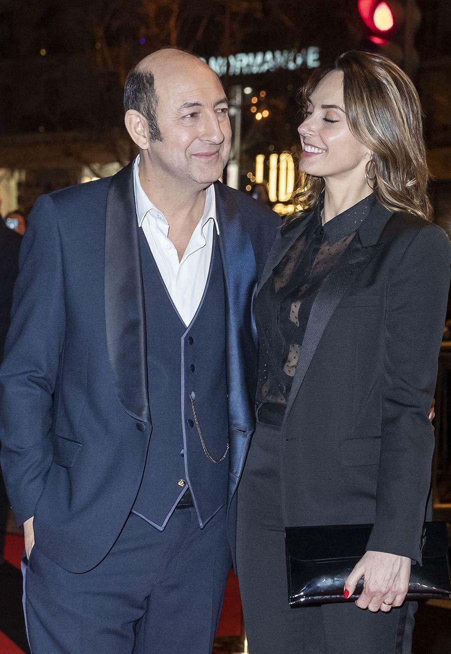 Kad Merad et Julia Vignaliau dîner de la 44ème cérémonie des César au Fouquet's à Paris le 22 février 2019