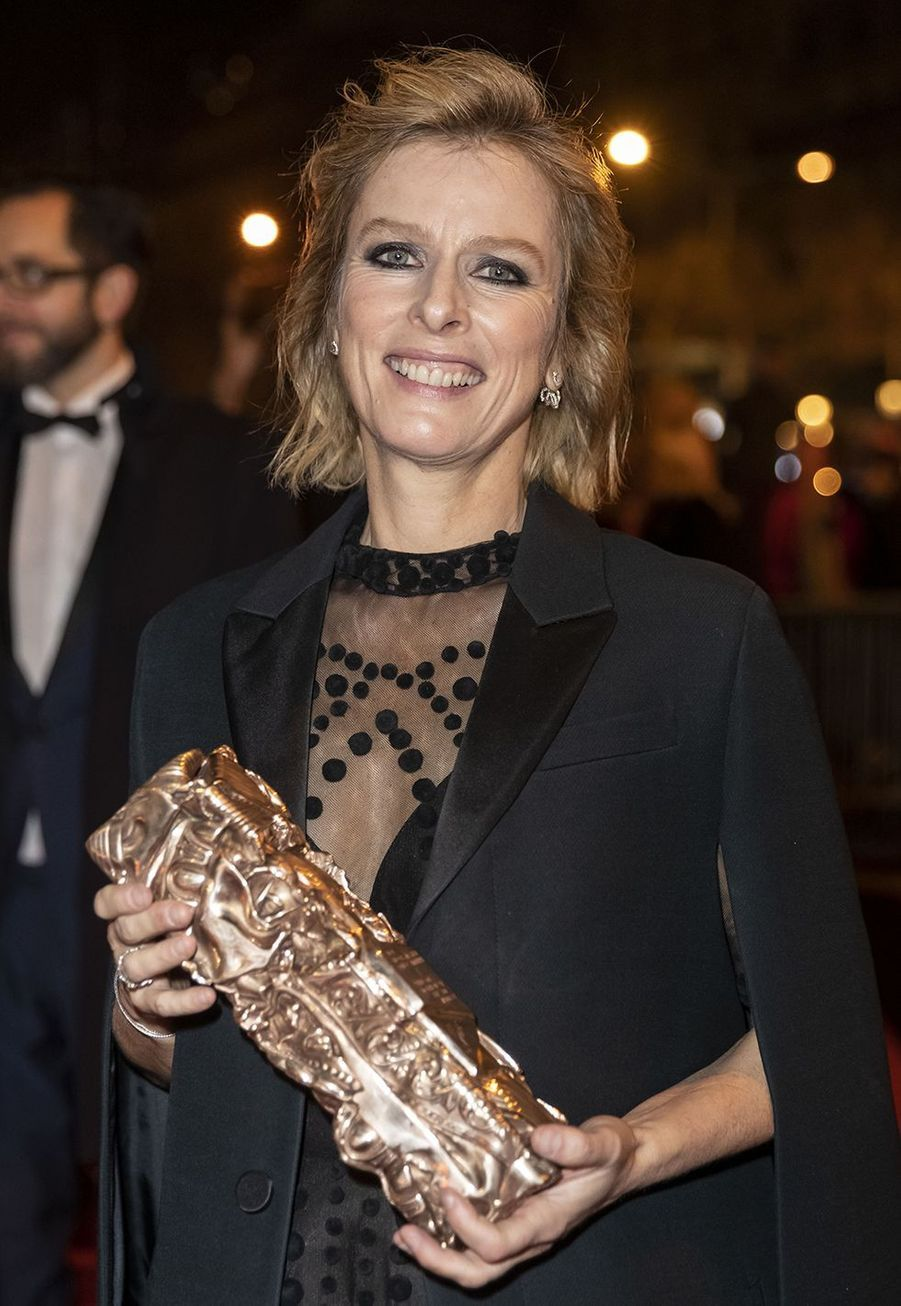 """Karin Viard (meilleur actrice dans un second rôle pour """"Les Chatouilles"""")au dîner de la 44ème cérémonie des César au Fouquet's à Paris le 22 février 2019"""