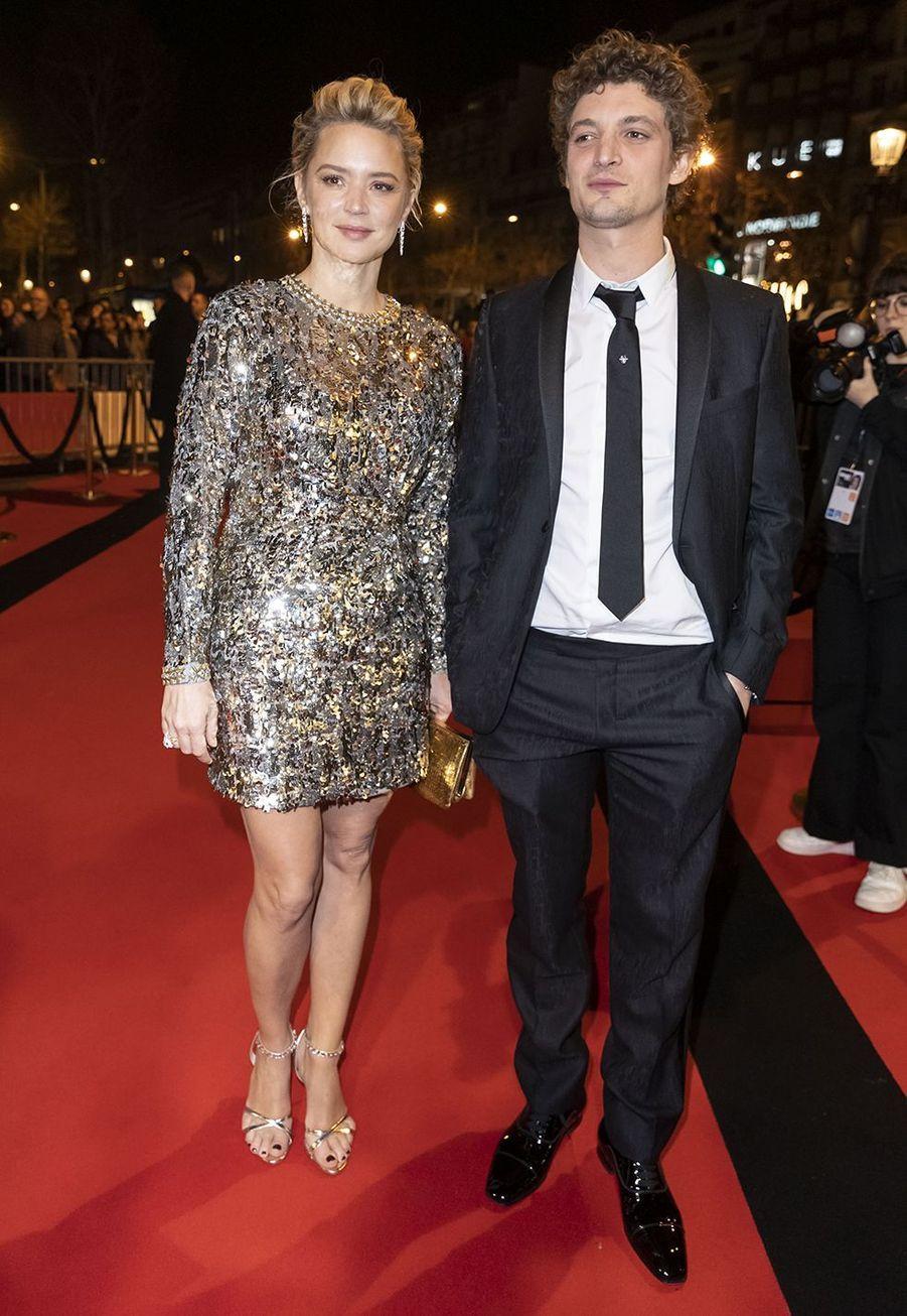 Virginie Efira et Niels Schneider au dîner de la 44ème cérémonie des César au Fouquet's à Paris le 22 février 2019