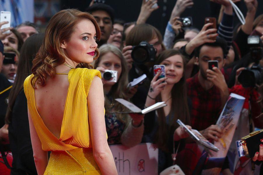 Emma Stone, le 10 avril 2014