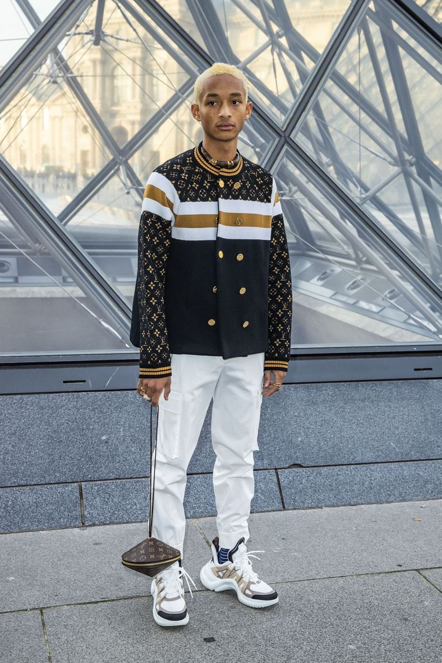Jaden Smith au défilé Louis Vuitton à Paris, le 5 mars 2019