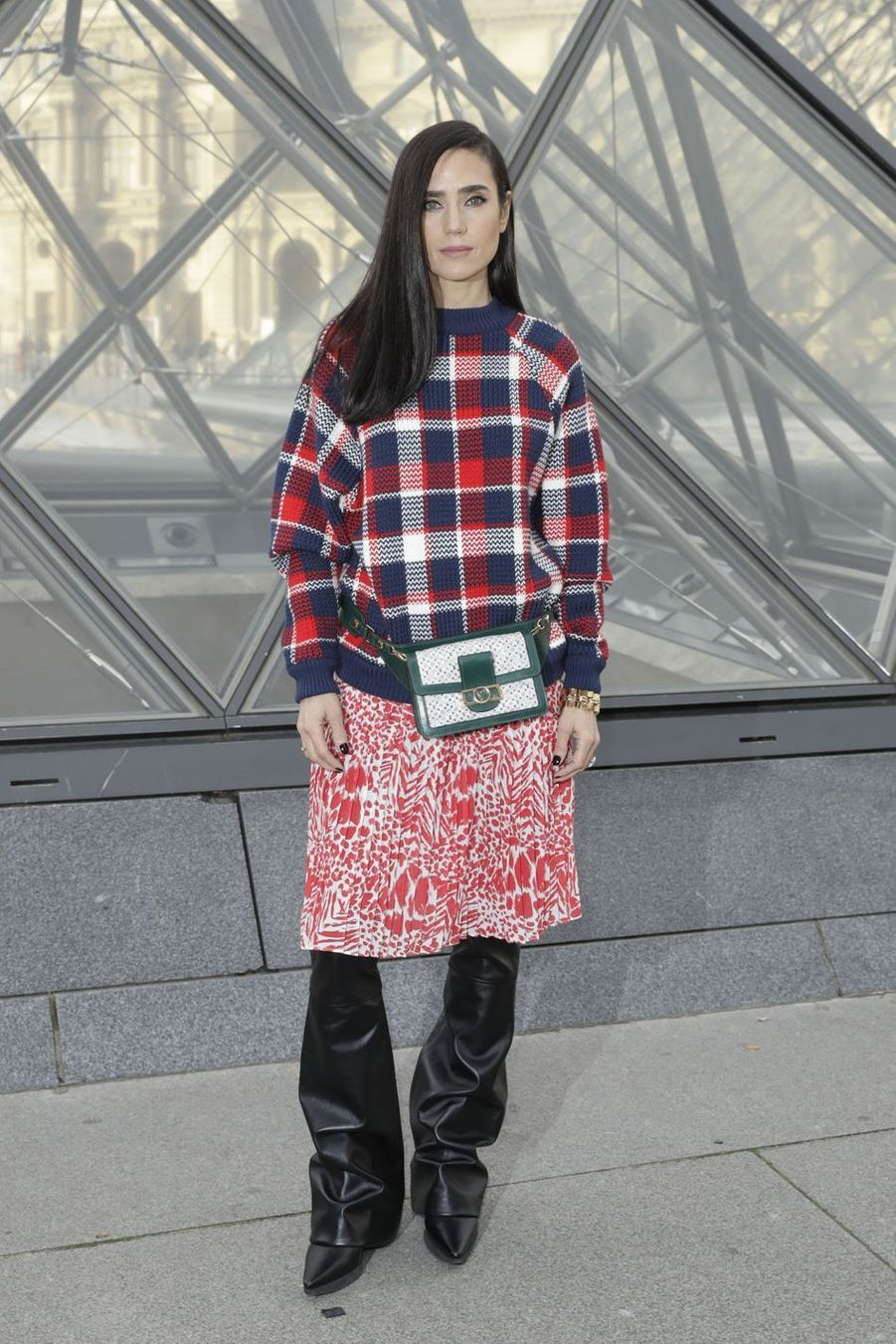 Jennifer Connelly au défilé Louis Vuitton à Paris, le 5 mars 2019