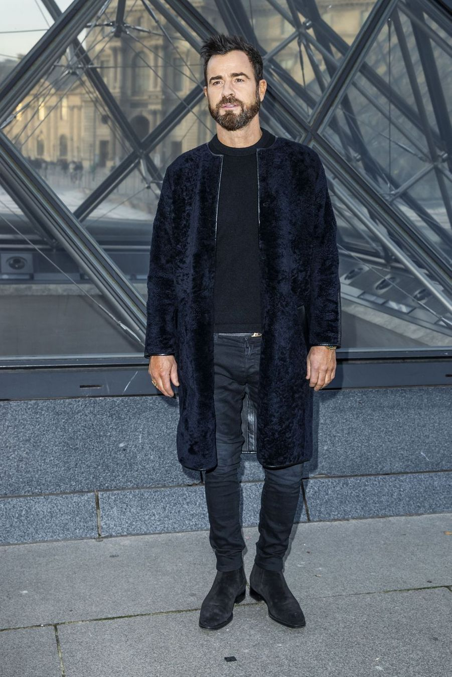 Justin Theroux au défilé Louis Vuitton à Paris, le 5 mars 2019