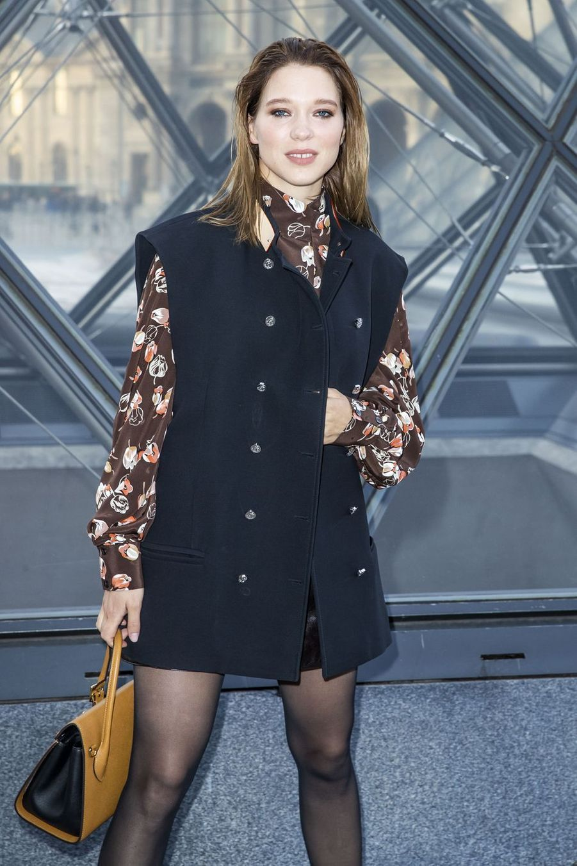 Léa Seydouxau défilé Louis Vuitton à Paris, le 5 mars 2019