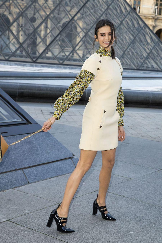 Nina Dobrevau défilé Louis Vuitton à Paris, le 5 mars 2019