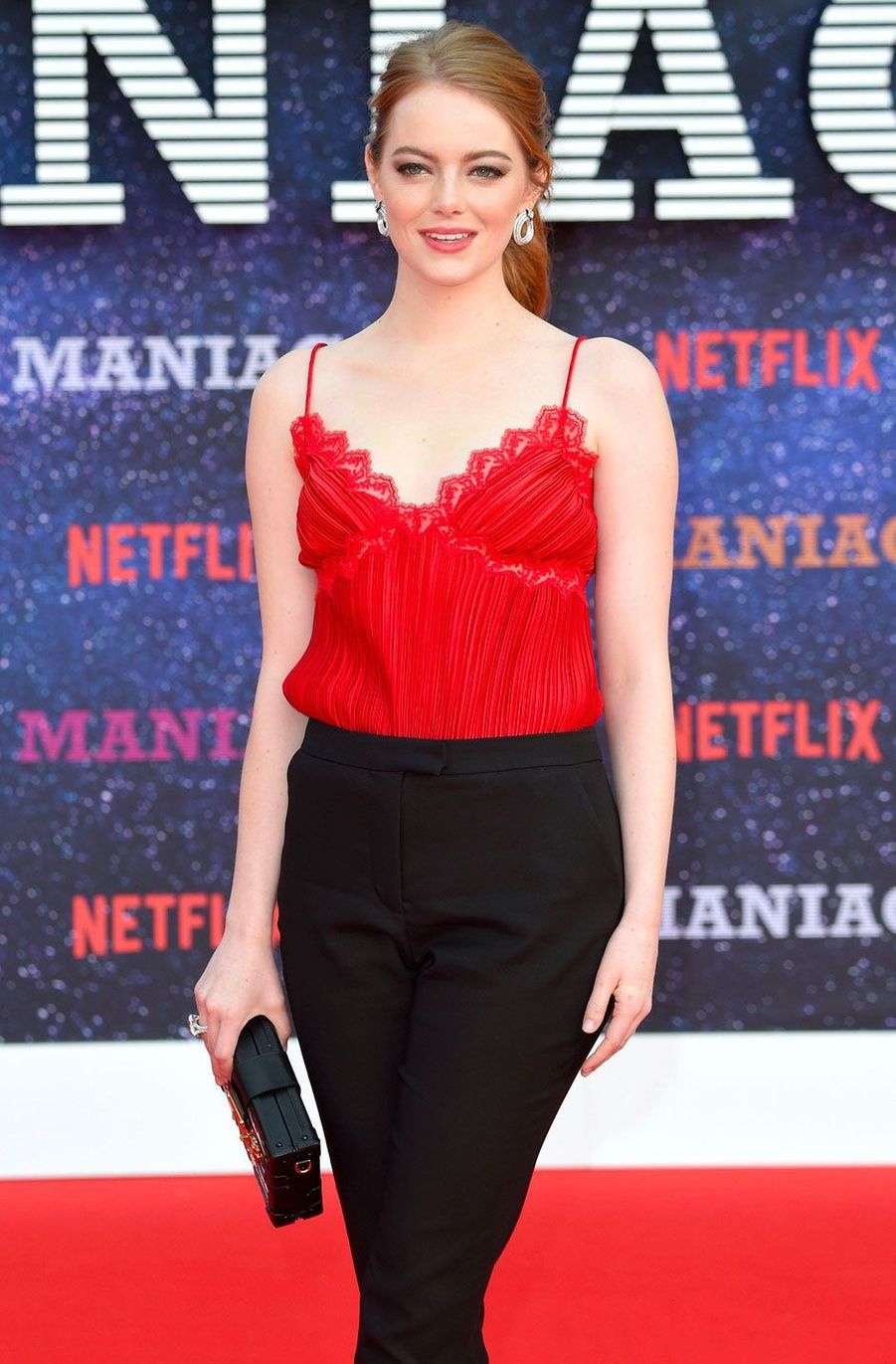 """Emma Stone à la première de """"Maniac"""", à Londres le 13 septembre 2018"""