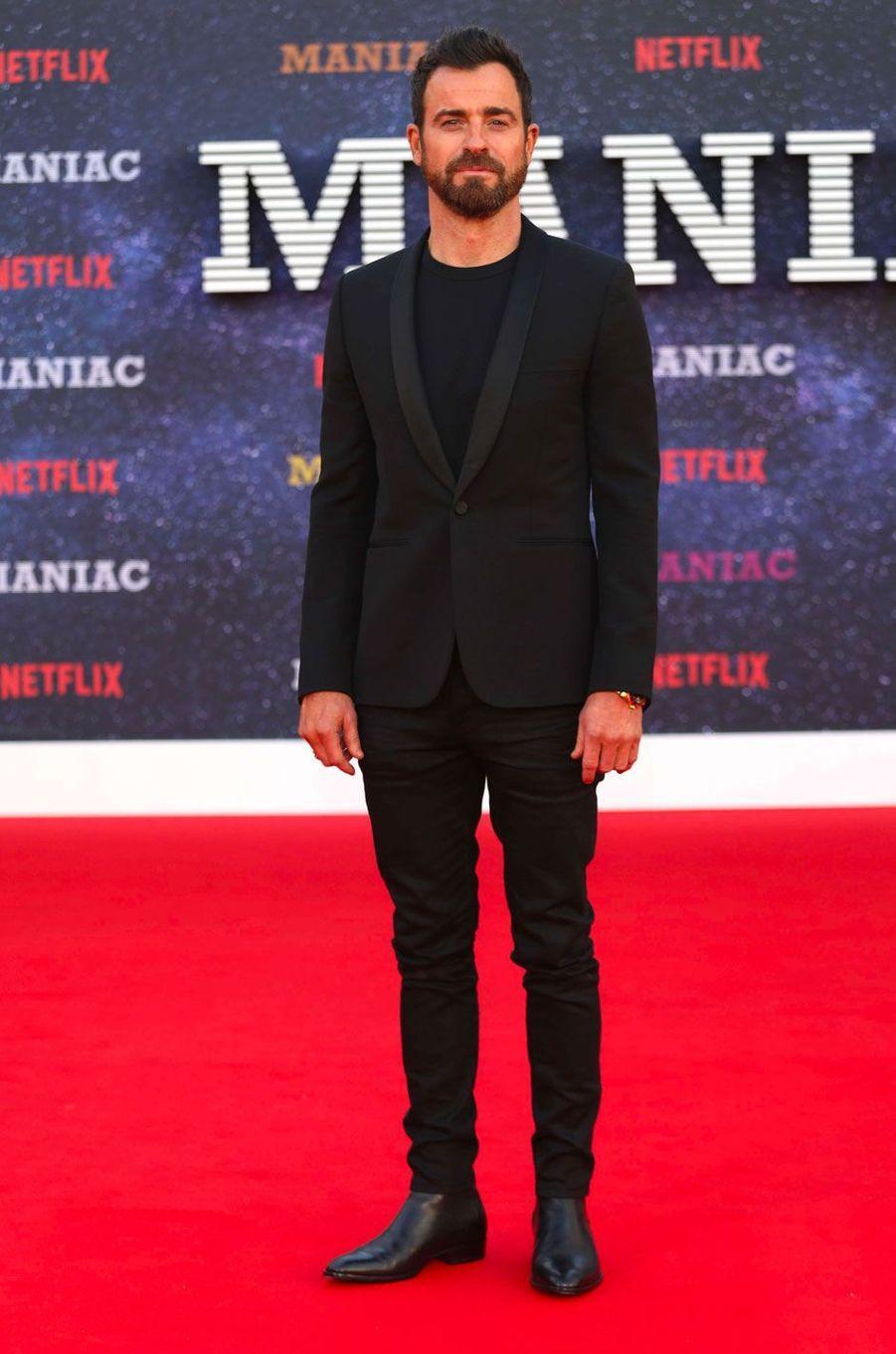 """Justin Theroux à la première de """"Maniac"""", à Londres le 13 septembre 2018"""