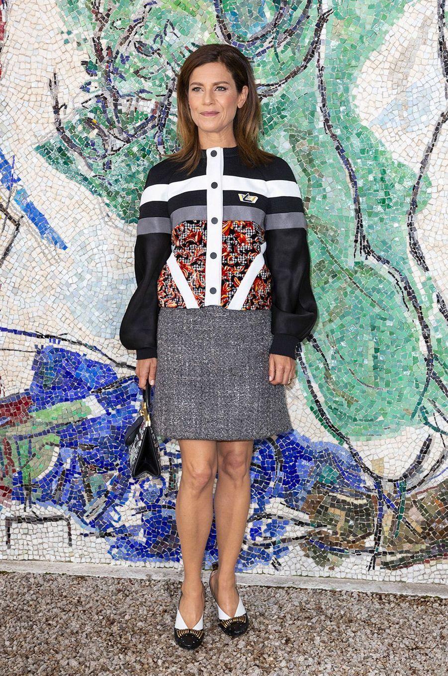 Marina Fois au défilé Louis Vuitton à la fondation Maeght lundi 28 mai