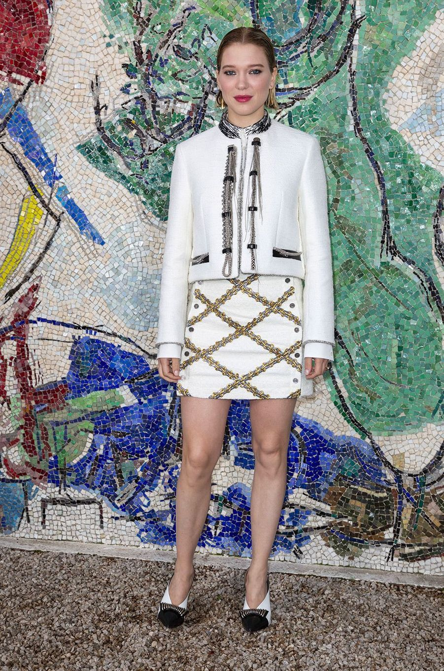 Léa Seydoux au défilé Louis Vuitton à la fondation Maeght lundi 28 mai