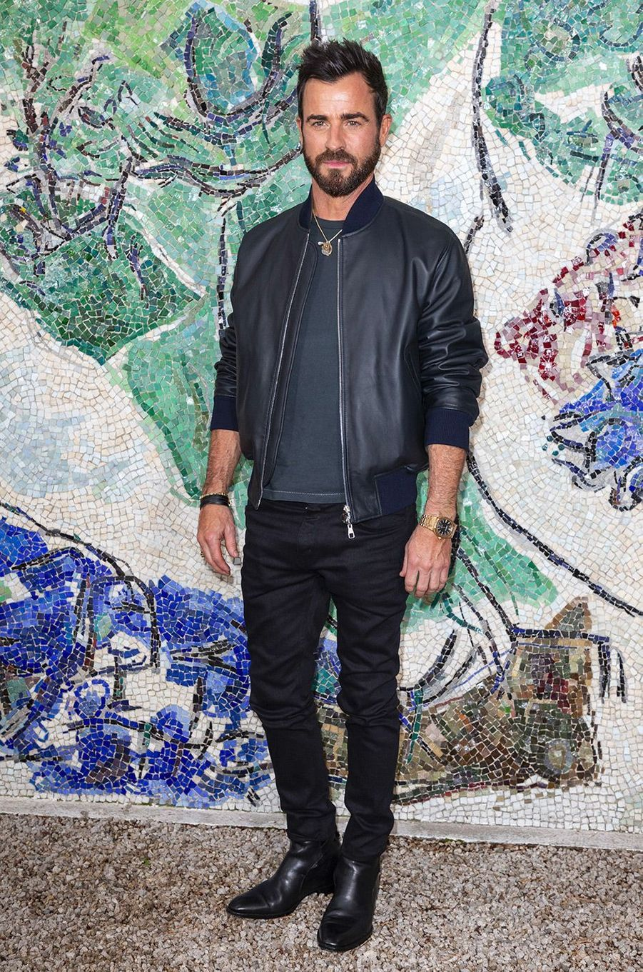 Justin Theroux au défilé Louis Vuitton à la fondation Maeght lundi 28 mai