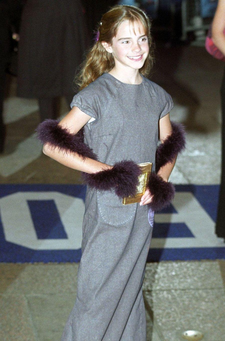 Emma Watson à Londres en décembre 2001.