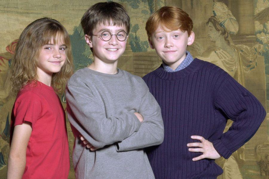 Emma Watson, Daniel Radcliffe et Rupert Grint.