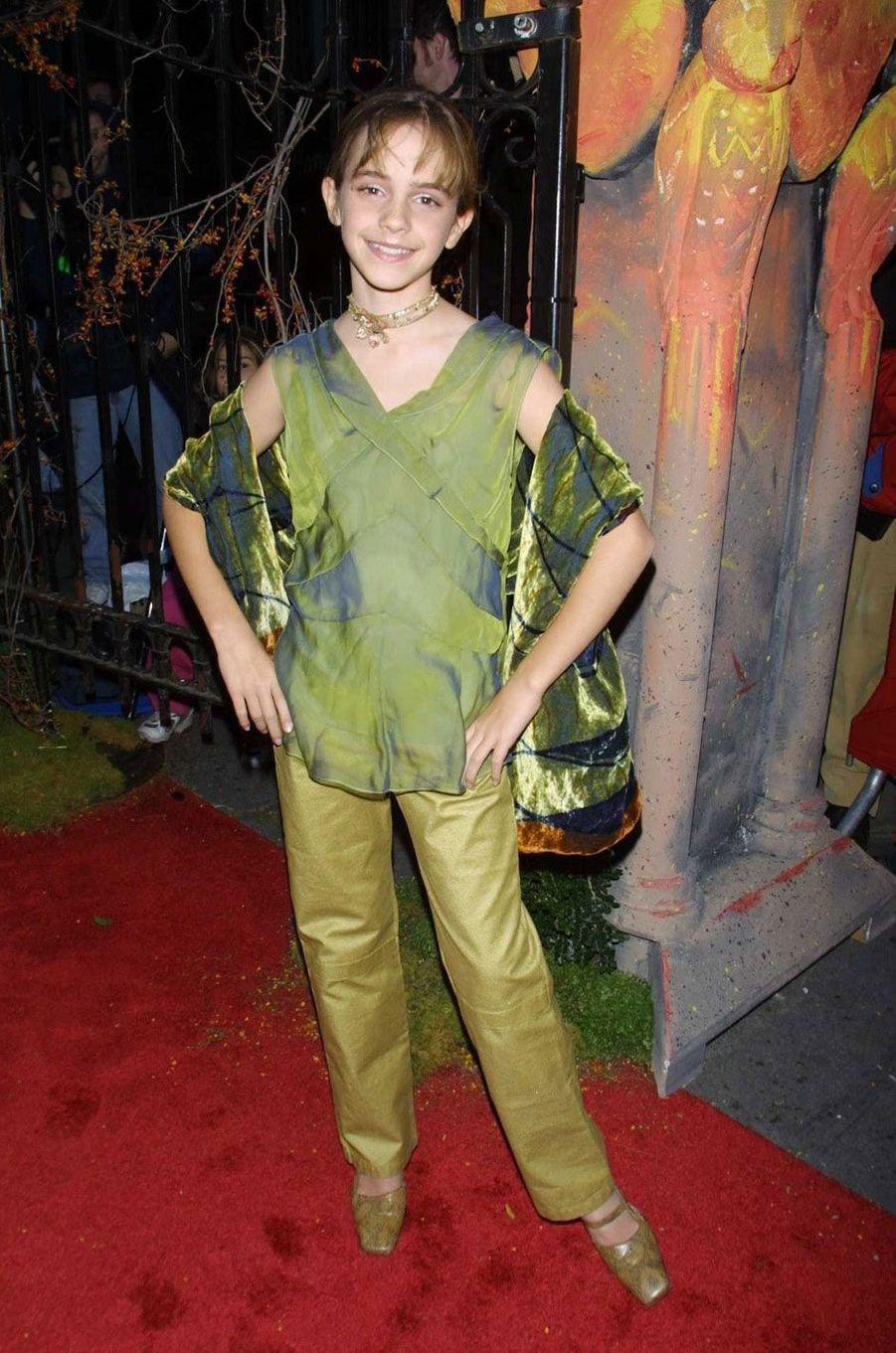 Emma Watson dans un total look vert.