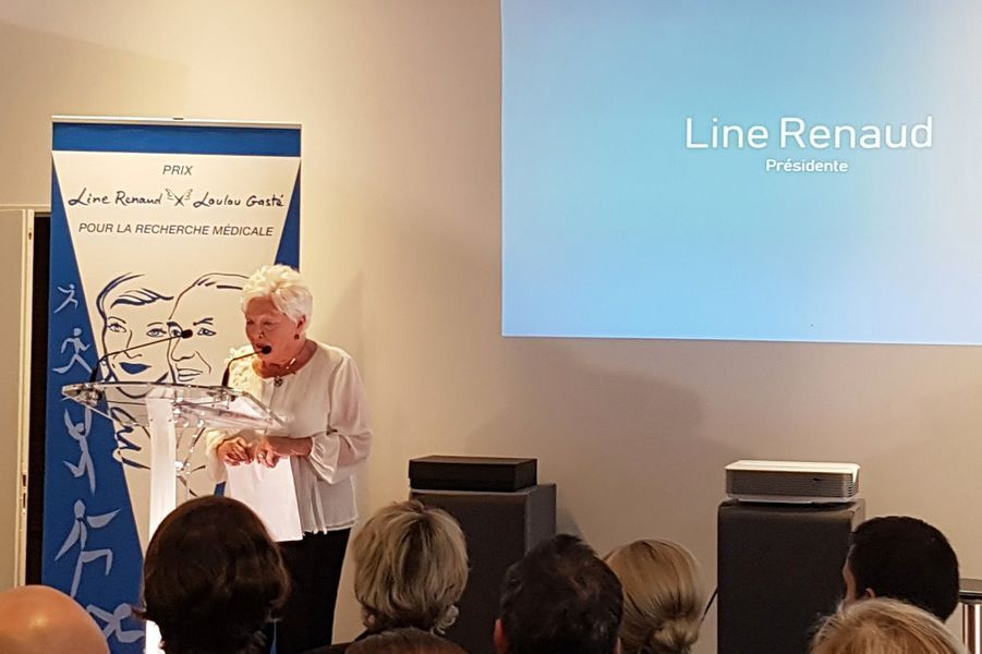 Discours de Line Renaud pour la remise du «Prix Line Renaud-Loulou Gasté pour la recherche médicale» vendredi à Paris.