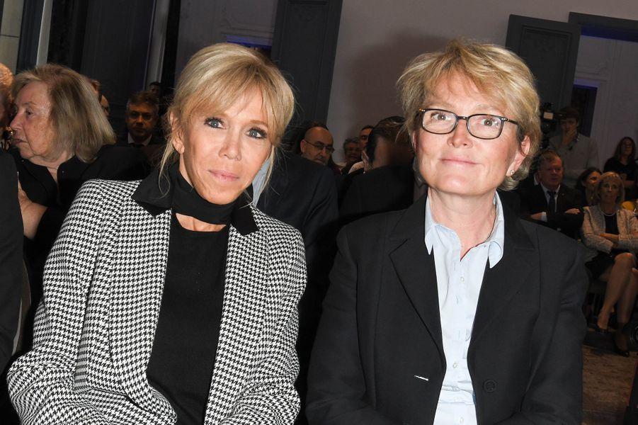 Brigitte Macron et Claude Chirac