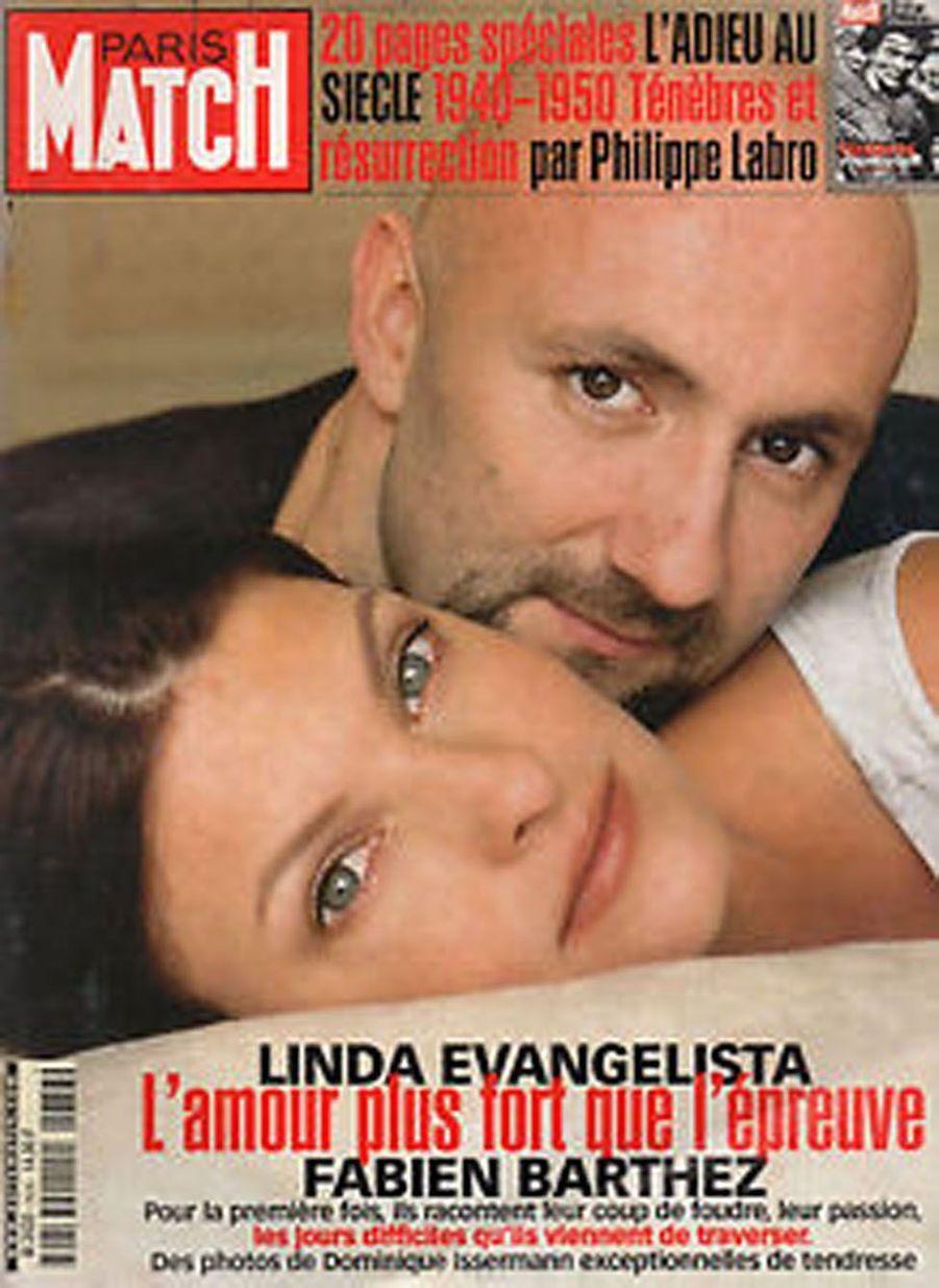 Le mannequin Linda Evangelista et le gardien de but Fabien Barthez ont été en couple en 1998.