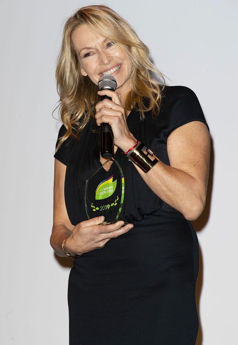 Estelle Lefébure au Trophéedu Bien-être, lundi à Paris