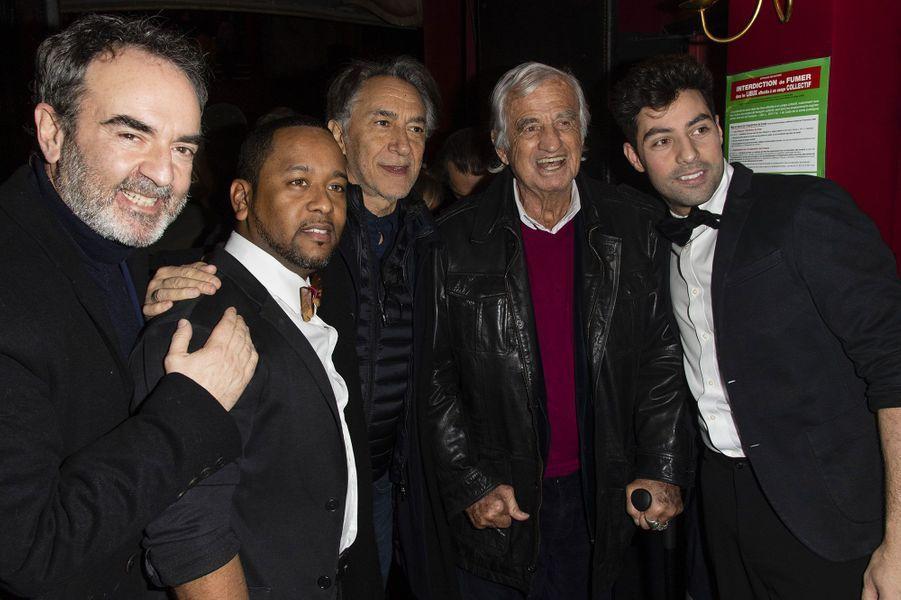 Bruno Solo, Indiaye Zami, Richard Berry, Jean-Paul Belmondo et Anthony Figueiredo