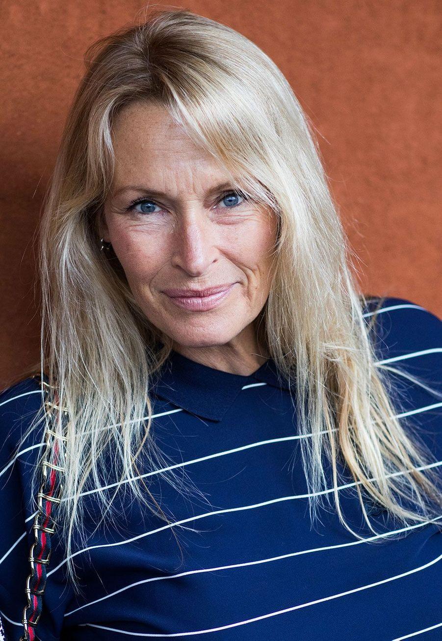Estelle Lefébure mercredi, à Roland Garros