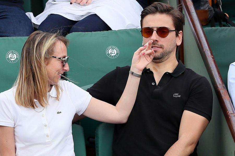 Audrey Lamy et son compagnonThomas Sabatier à Roland-Garros jeudi
