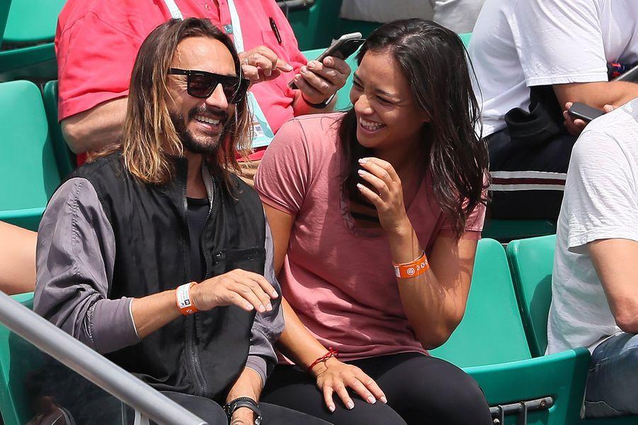 Bob Sinclar et une amie à Roland-Garros jeudi