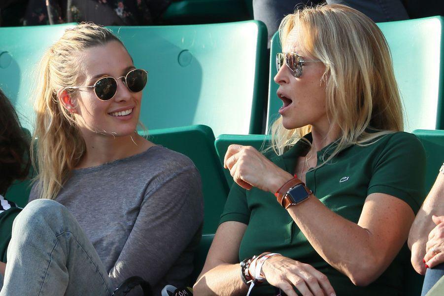Ilona Smet et Estelle Lefébure à Roland-Garros jeudi