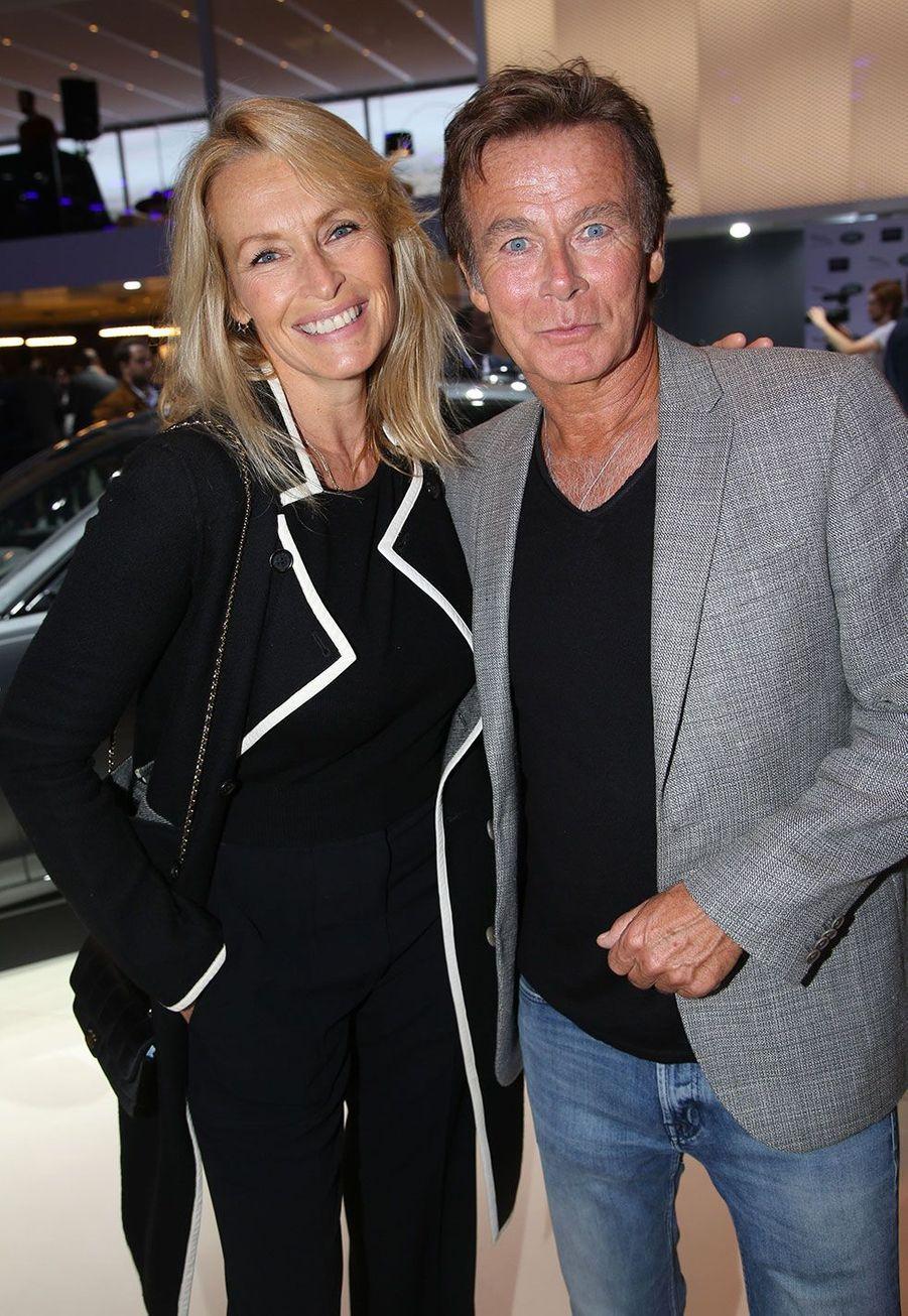 Estelle Lefébure et Franck Dubosc au Mondial de l'automobile