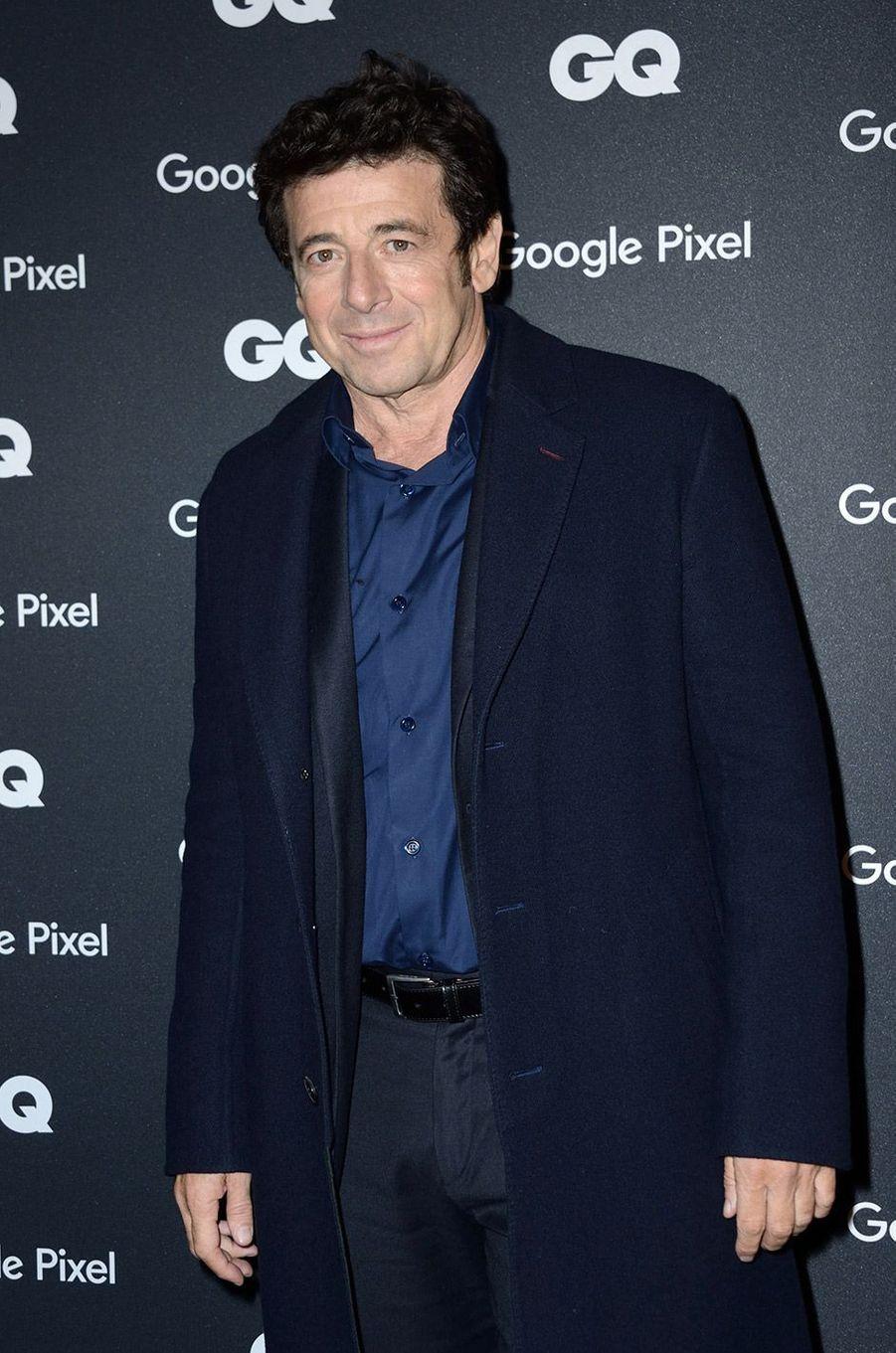 Patrick Bruel à la soirée GQ Hommes de l'année, à Paris, lundi 26 novembre