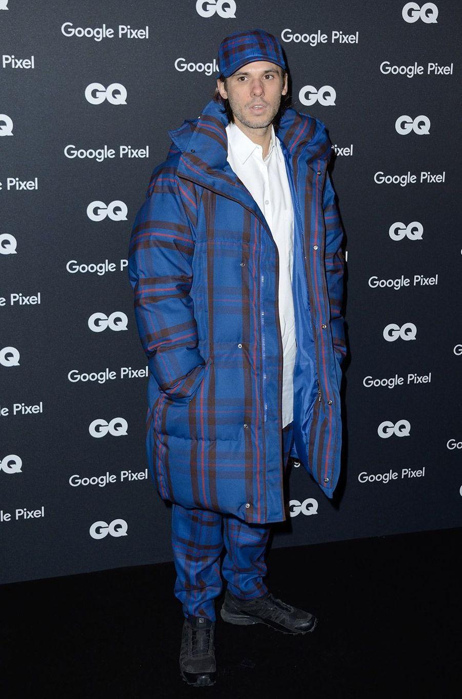 Orelsan à la soirée GQ Hommes de l'année, à Paris, lundi 26 novembre