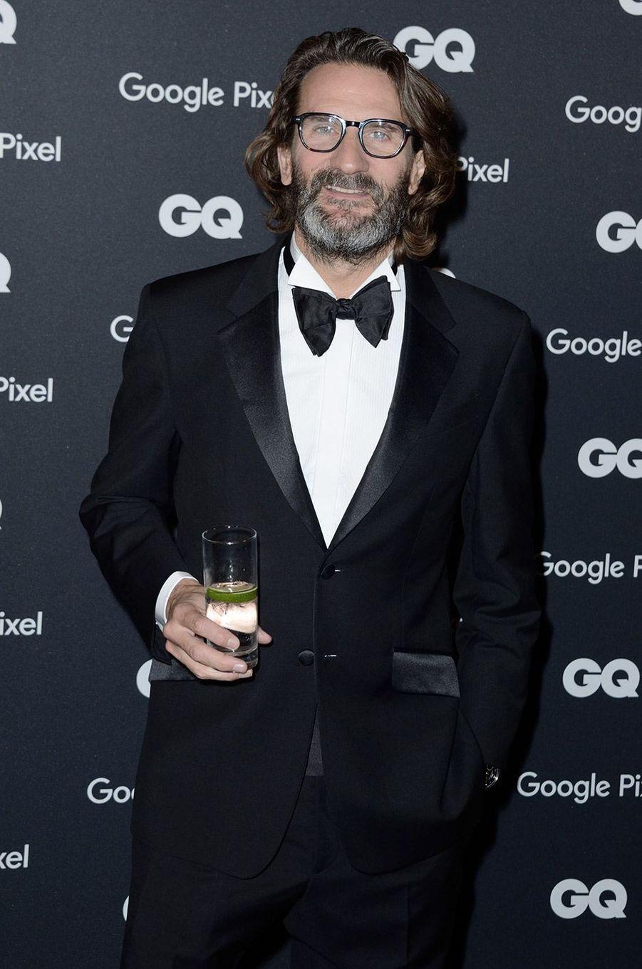 Frédéric Beigbeder à la soirée GQ Hommes de l'année, à Paris, lundi 26 novembre