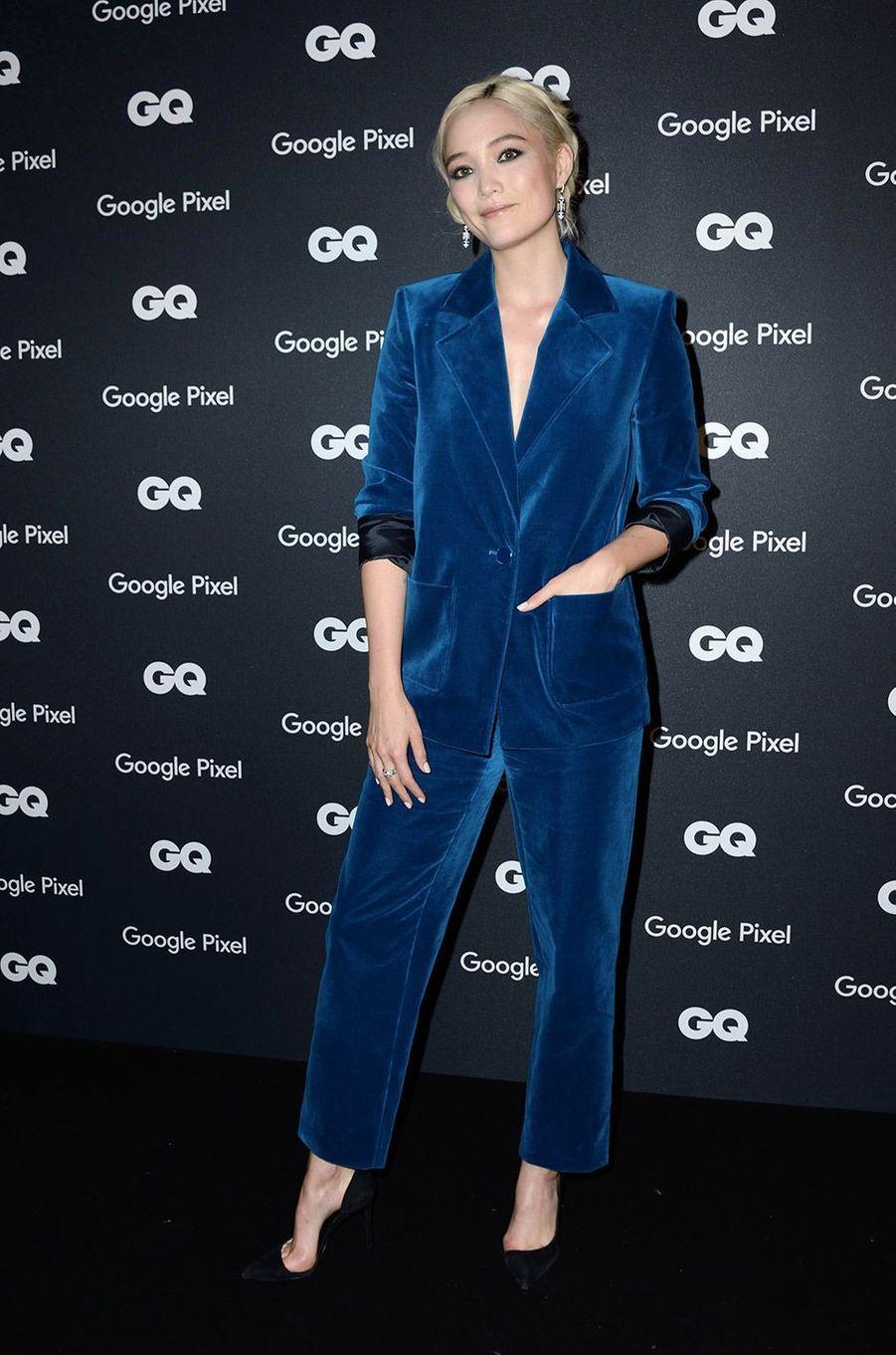 Pom Klementieff à la soirée GQ Hommes de l'année, à Paris, lundi 26 novembre