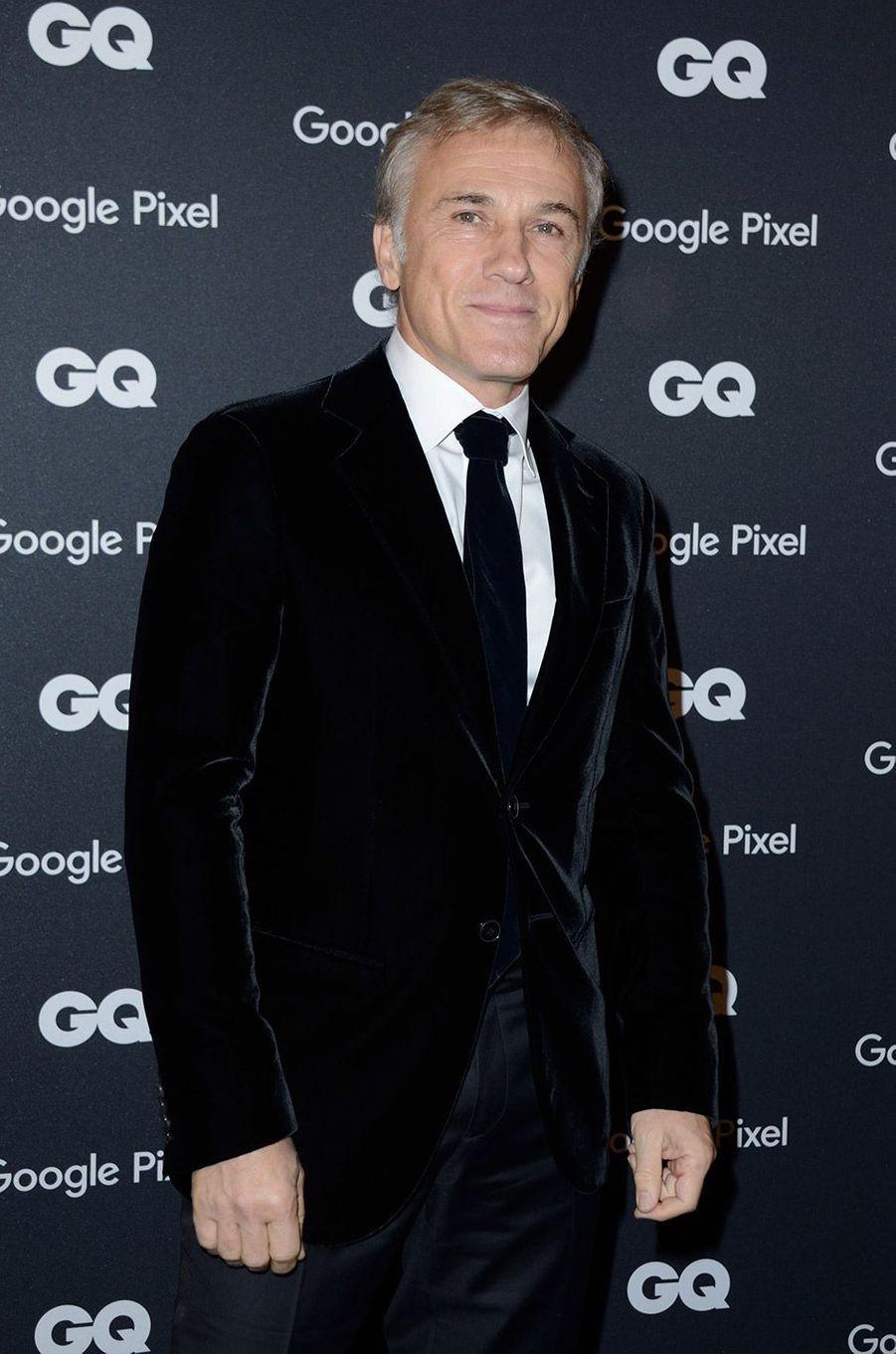 Christopher Waltz à la soirée GQ Hommes de l'année, à Paris, lundi 26 novembre