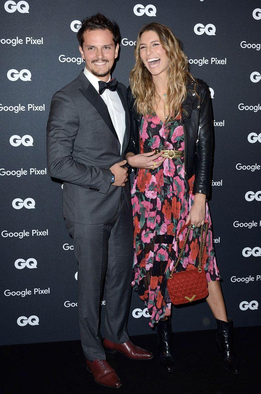 Laury Thilleman et Juan Arbelaez à la soirée GQ Hommes de l'année, à Paris, lundi 26 novembre