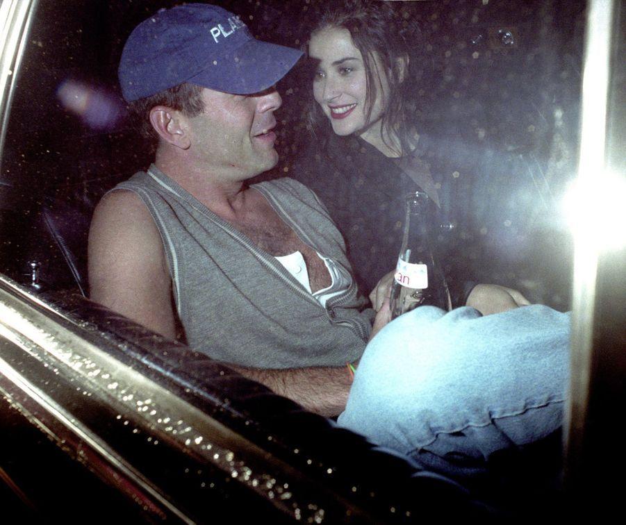 Bruce Willis et Demi Moore à Londres, le 2 mai 1993.