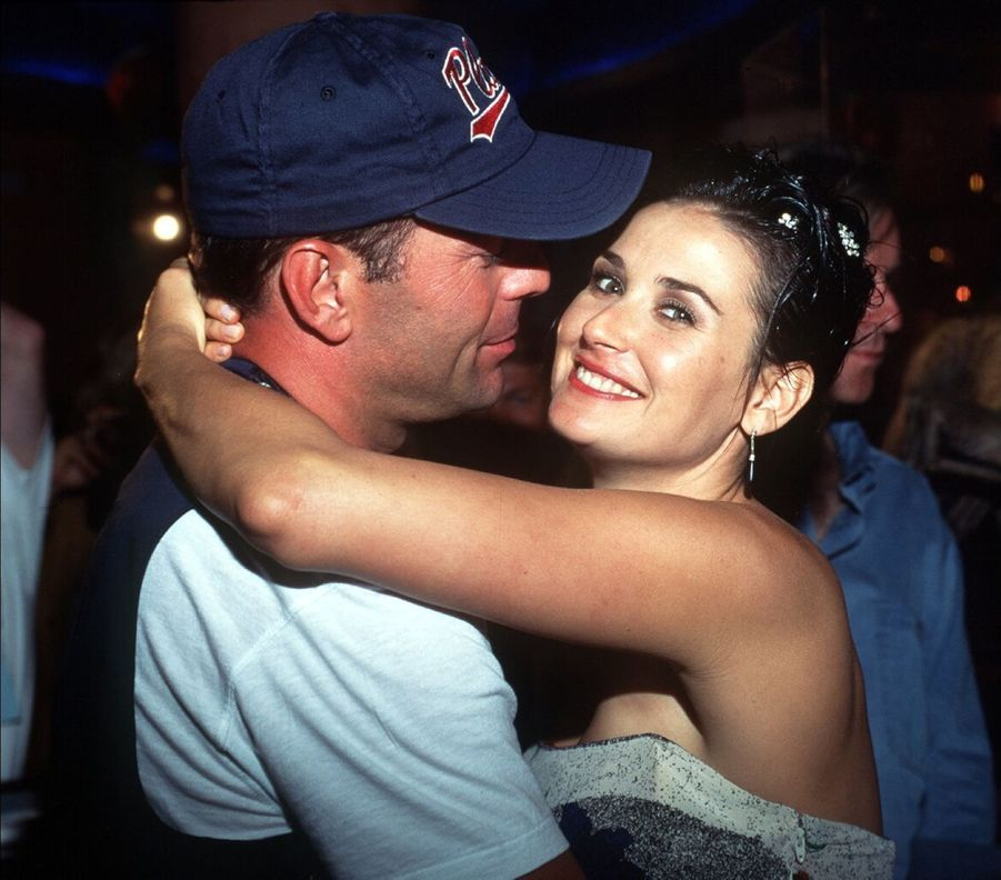 Bruce Willis et Demi Moore inaugurent le restaurant Planet Hollywood de Las Vegas, le 25 juillet 1994.