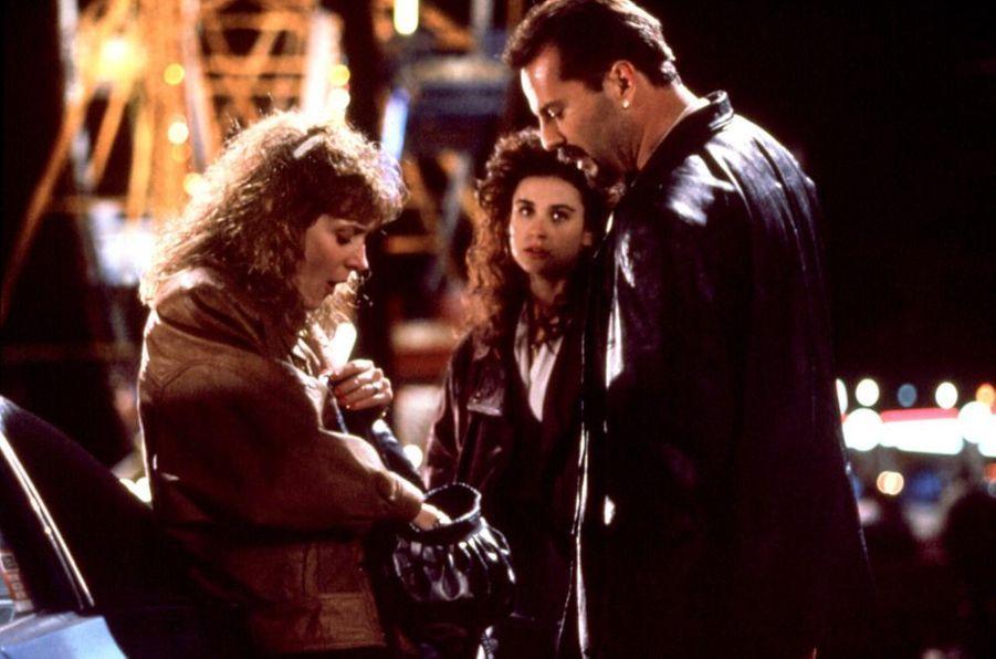 """Bruce Willis et Demi Moore dans """"Pensées mortelles"""", le seul film dont ils ont partagé l'affiche en 1991."""