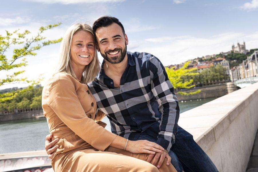 Amandine Henry et son compagnon Karim.