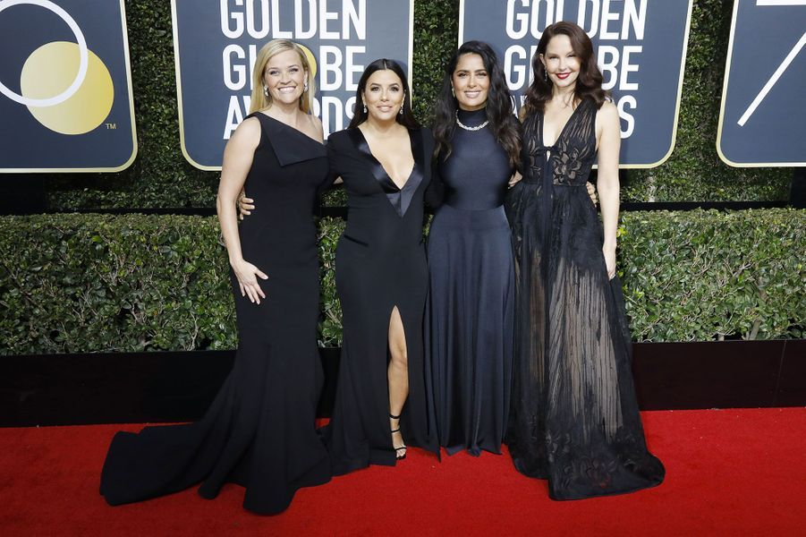 Reese Witherspoon, Eva Longoria, enceinte, Salma Hayek, Ashley Judd aux Golden Globes 2018