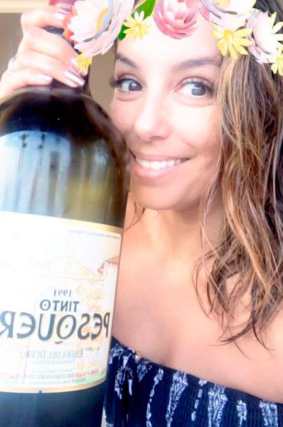 Eva Longoria aime jouir d'un bon vin