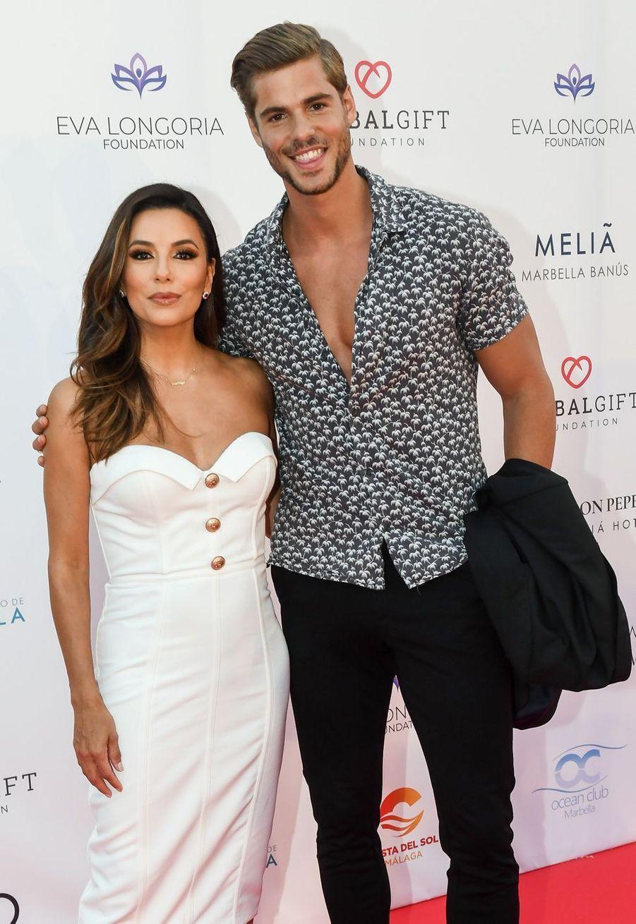 Eva Longoria et Giovanni Bonamy au Marbella Fashion Show, le 11 juillet 2019