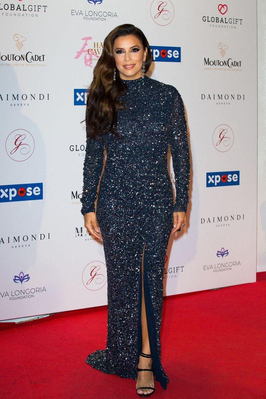 "Eva Longoria lors du ""Global Gift Gala"" à Cannes, le 20 mai 2019"