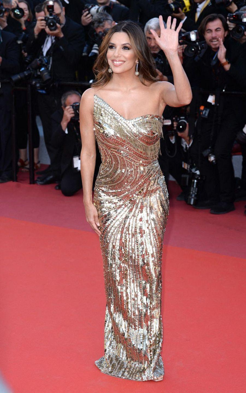 """Eva Longoria lors de la première de """"Rocketman"""" à Cannes, le 16 mai 2019"""